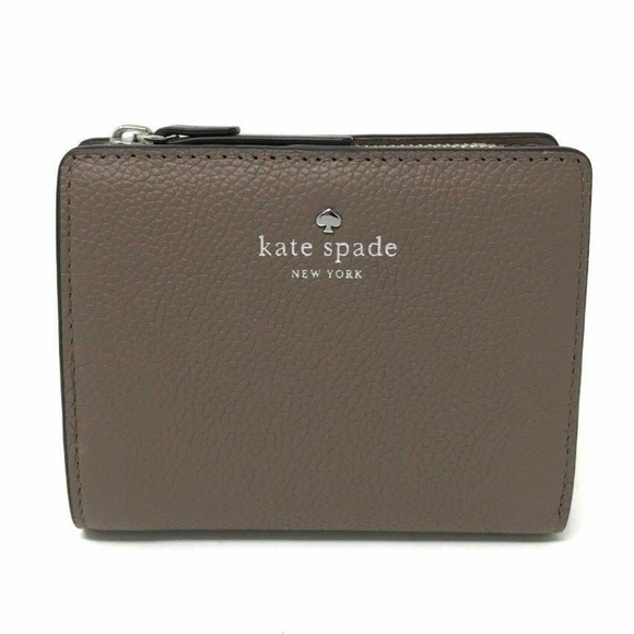 New Kate Spade small Shawn Larchmont Avenue wallet Light Walnut